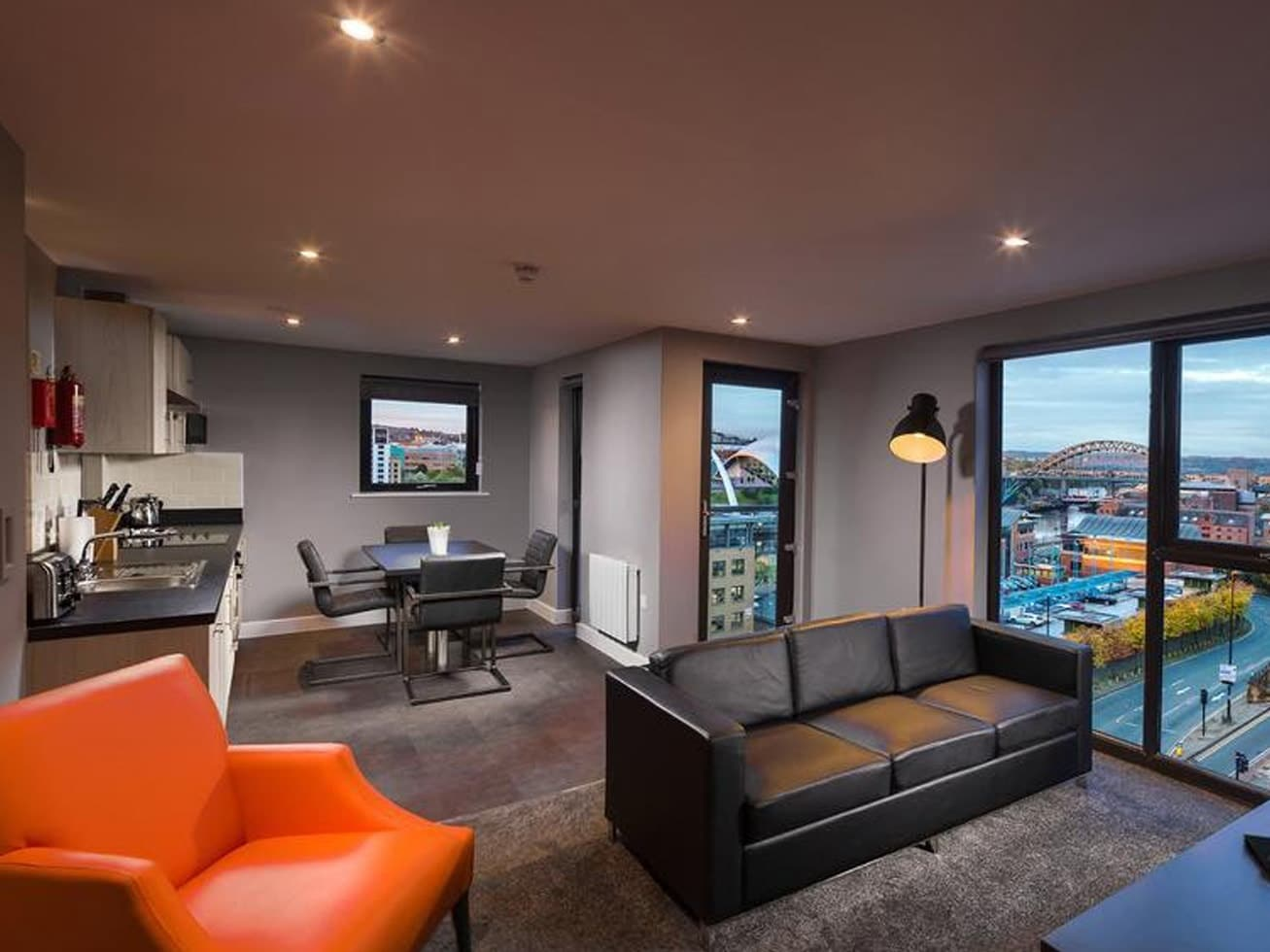 newcastle serviced apartment aerial house